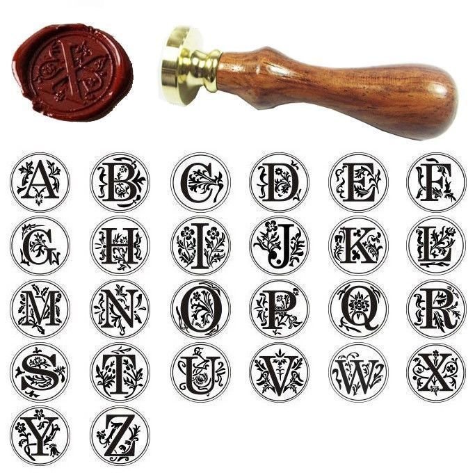 Custom Initial Alphabet Wax Sealing Seal Stamp Invitations Gift Letter A-Z