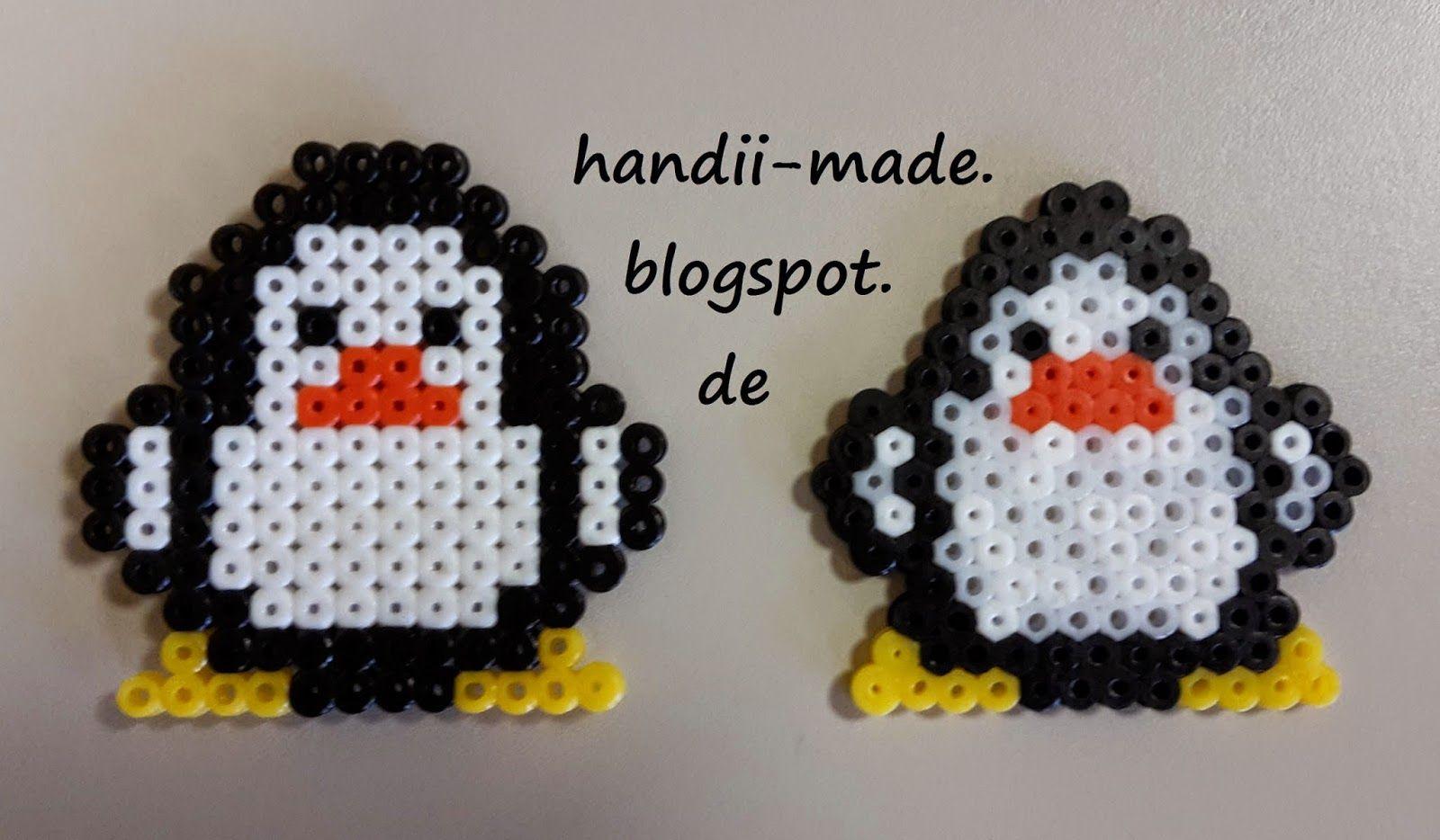 Pinguin Basteln Bugelperlen Bugelperlen Perlenmuster