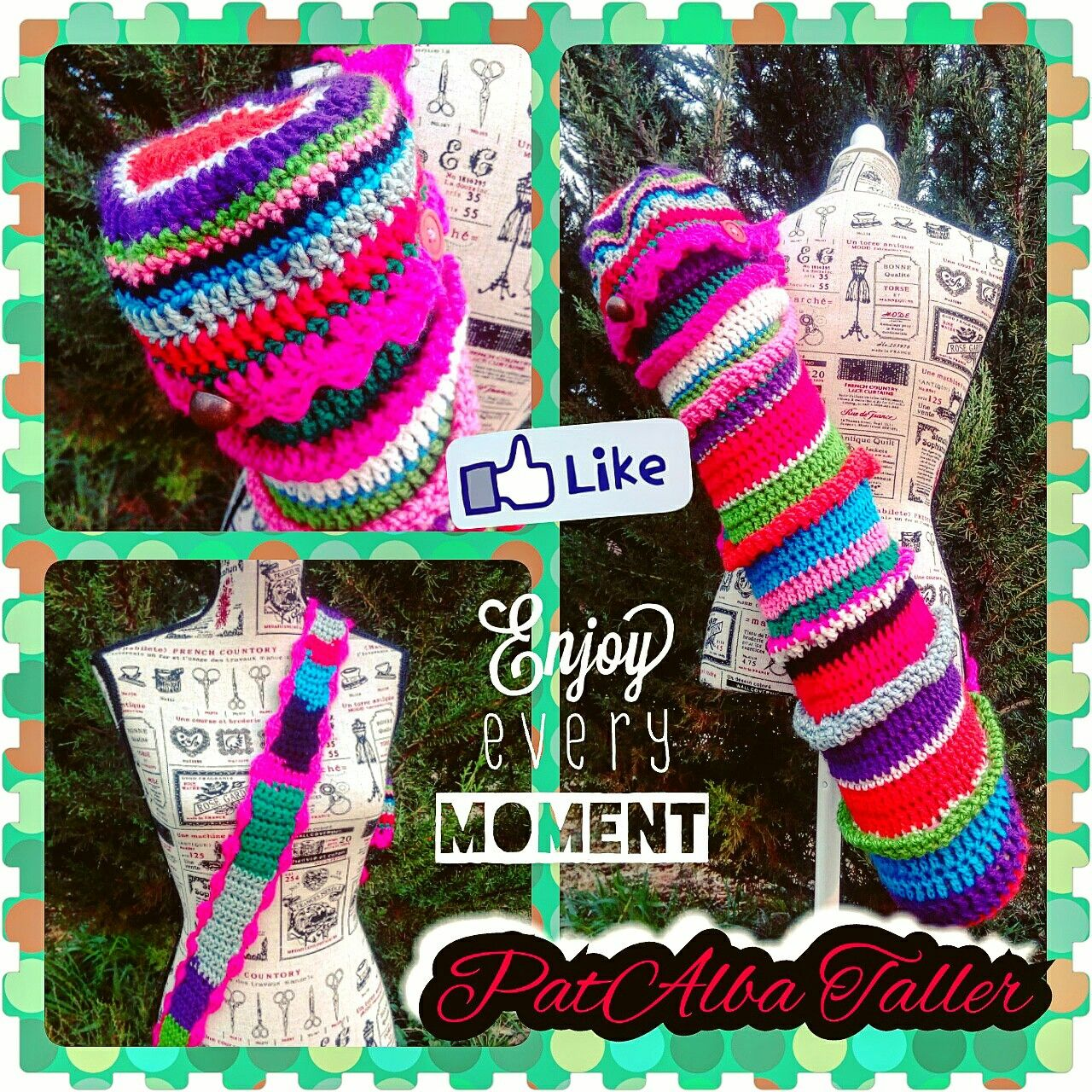 Bolso multicolor para tu MAT tejido ❗.... Encarga el tuyo  #PatAlbaTaller #diseñodeautor #emprendedora #artesana #handmade #tejidos #crochet #confeccionapedido #regalounico