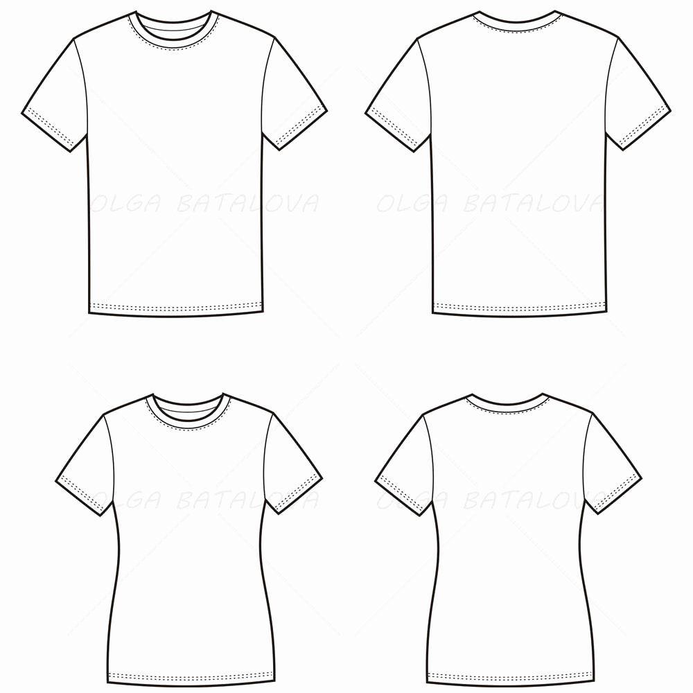 Download T Shirt Template Illustrator Inspirational Women S And Men S T Shirt Fashion Flat Templates Fashion Sketch Template Fashion Sketches Shirt Sketch