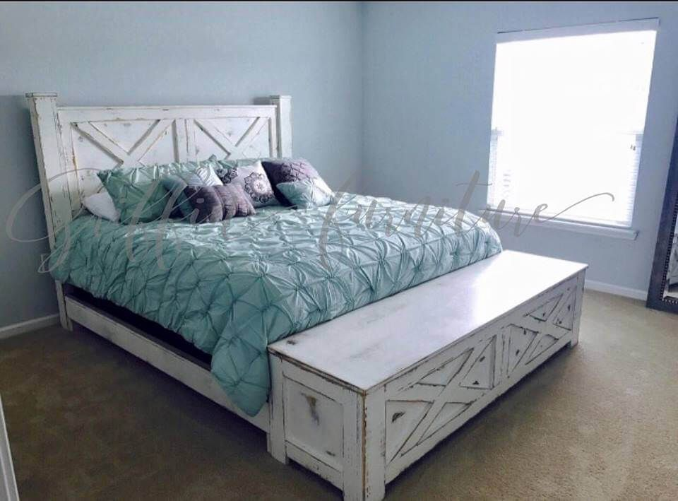 Bed Frames Bed Frame With Storage Farmhouse Bed Frame White
