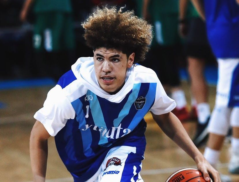 Lamelo Ball Becomes The Youngest American Basketball Lamelo Ball Liangelo Ball Ball Hairstyles