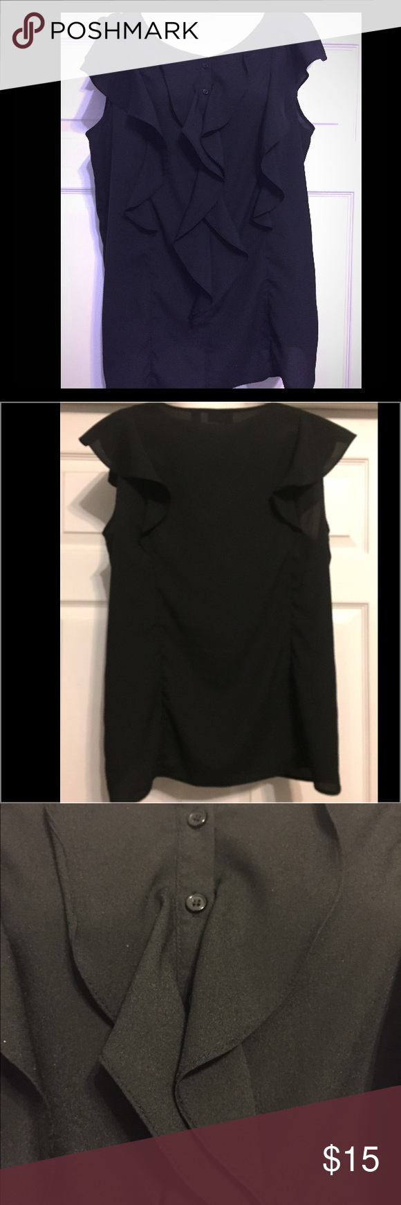 New York and Co sleeveless blouse 100%polyester New York & Company Tops Blouses