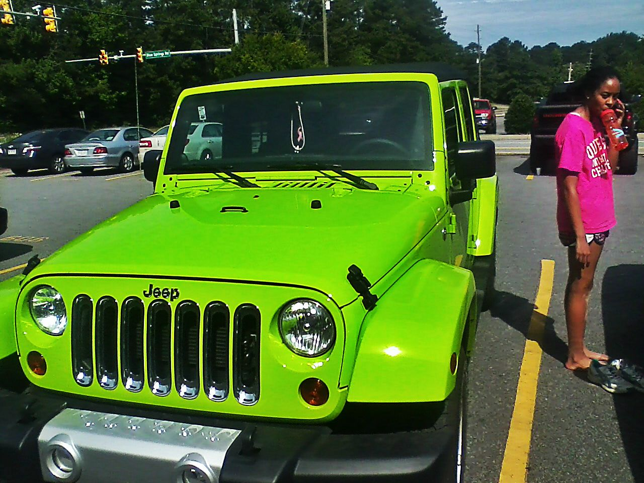 lime green jeep - HD 1280×960