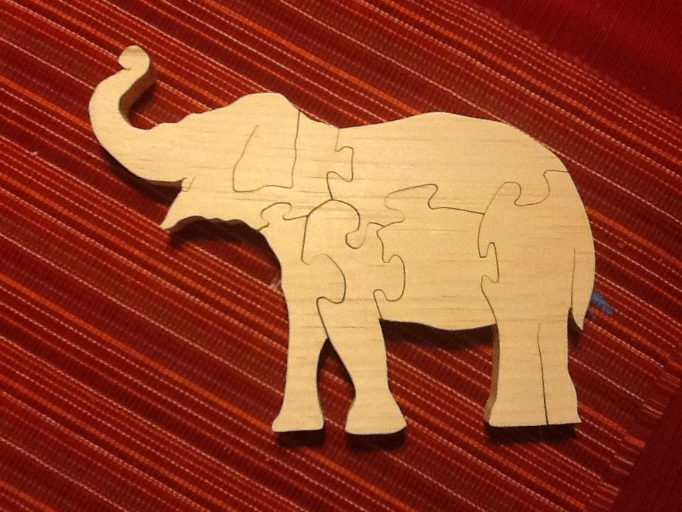 Elephant scroll saw puzzle | Scroll saw/ woodworking projects that I've done | Pinterest ...