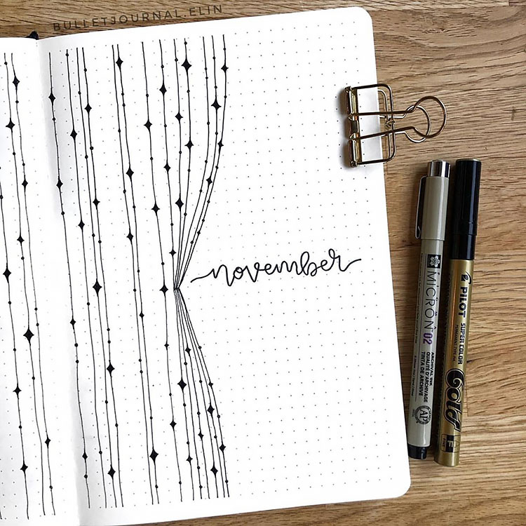 45+ Monthly Bullet Journal Cover Page Ideas - Beau