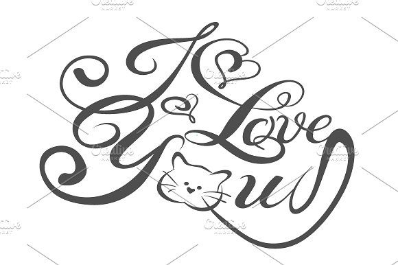 I love you, lettering design vector Fonts I love you, lettering design vector, font styles, font types, tattoo fonts by kio
