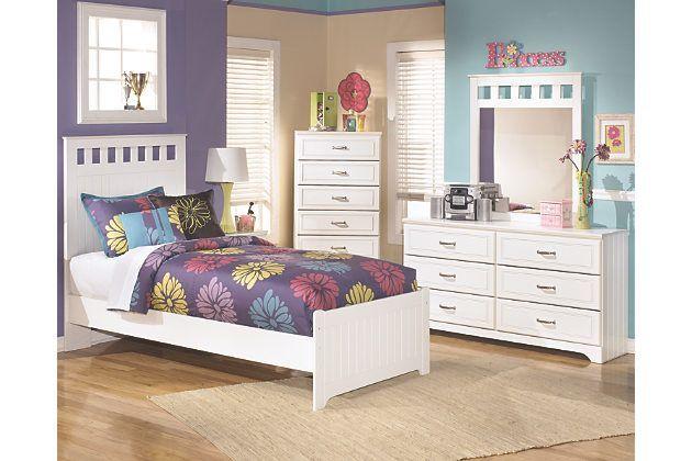 Lulu 5-Piece Twin Panel Bedroom by Ashley HomeStore, White