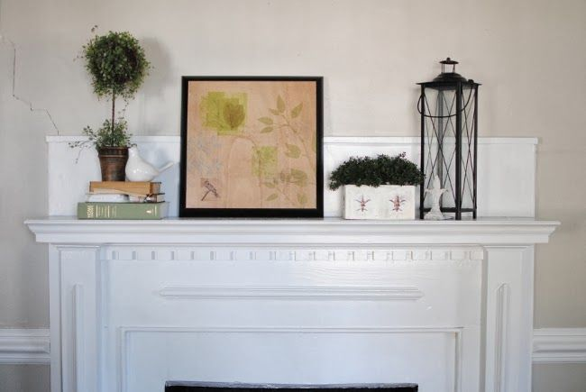 Everyday Mantle Decor - Feathers in Our Nest -  Simple, everyday #mantle decor  |  Feathers in Our Nest  - #backdropideas #bohoweddingdress #decor #everyday #farmhouselivingroom #Feathers #gardenlandscaping #Mantle #mantledecor #Nest #selfieideas