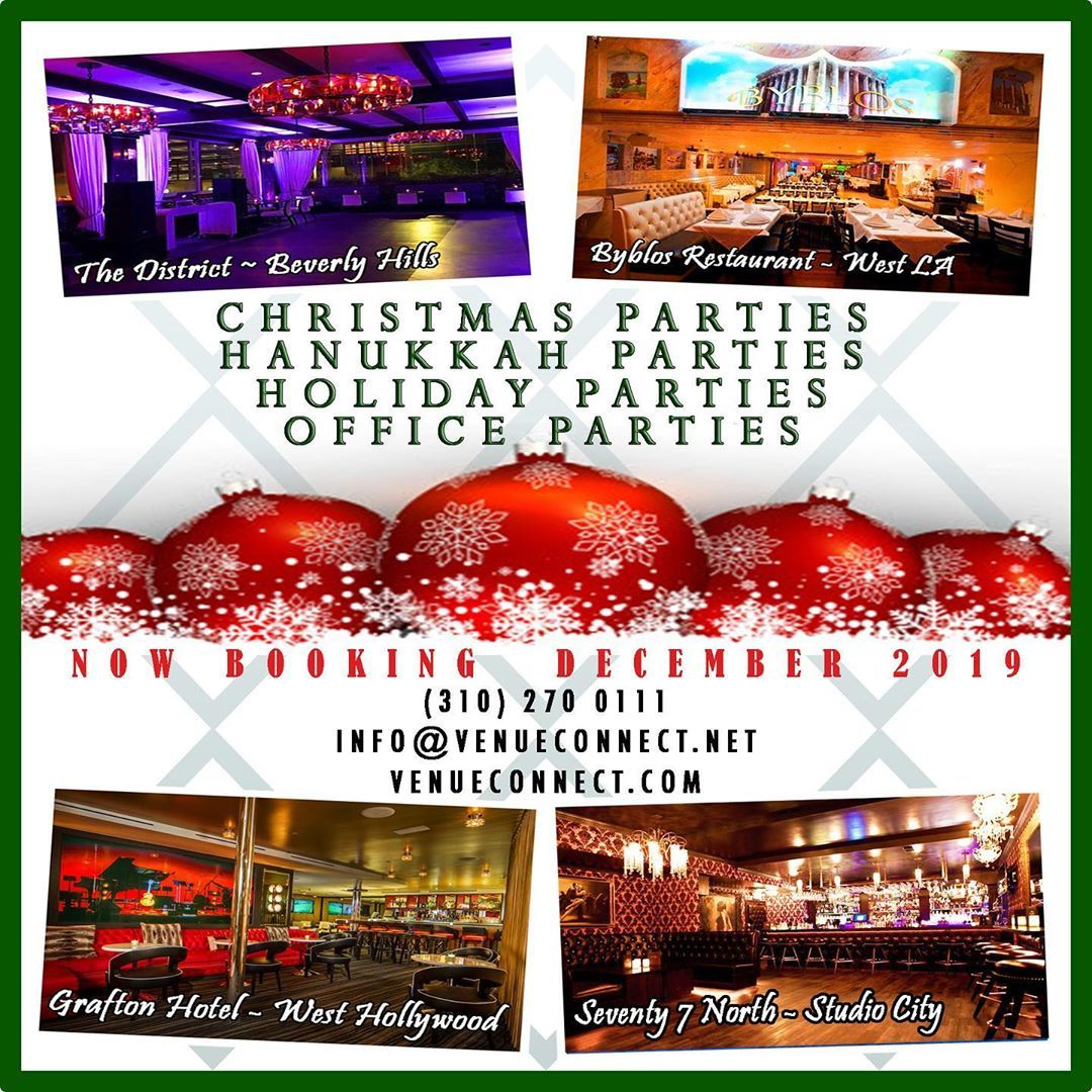 Book Your Holiday Parties Now With Venueconnect 310 270 0111 Www Venueconnect Net Venueconnect Eventplanners Events Christmasparties Tatiller Resim