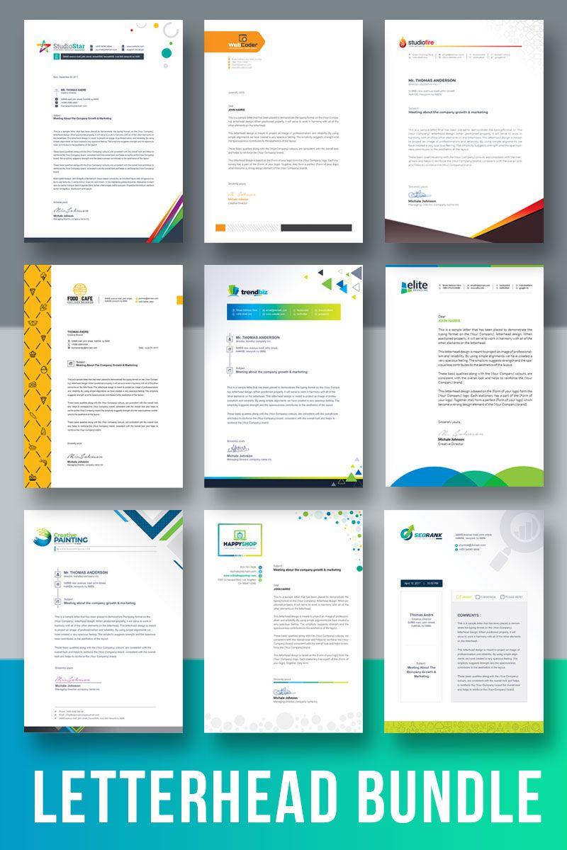 letterhead template bundle corporate identity best resume for fresh graduate editable format in word objective 2019