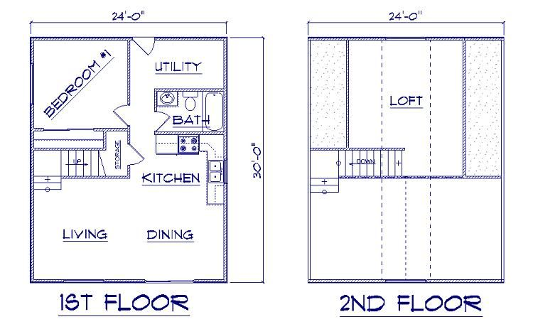 24x30 Chalet Floor Plans Jpg 750 463 Pixels Cabin Plans With Loft Loft Floor Plans Cabin Plans