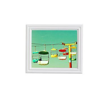 "Summer of '67 Framed Print By Meg Venter, 11x13"", Ridged Distressed Frame, White, No Mat"
