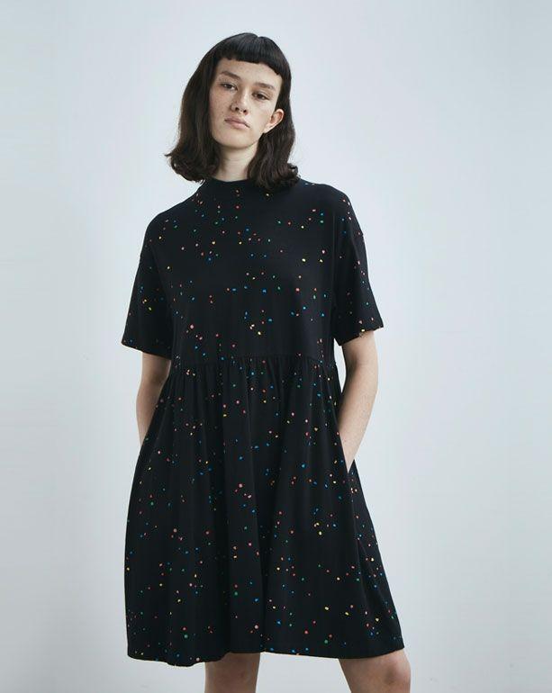 2ff46a76437 Lazy Oaf Black Spotty Dress - Clothing - New In - Womens
