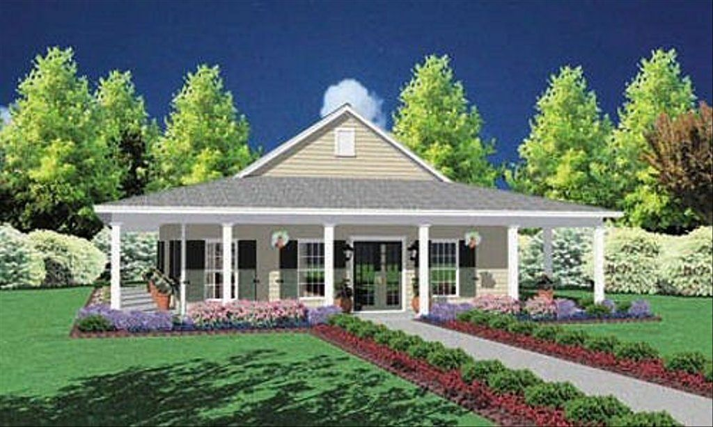 Southern Style House Plan 3 Beds 2 Baths 1567 Sq Ft Plan 36 136 In 2020 Country Style House Plans Porch House Plans Country House Plans