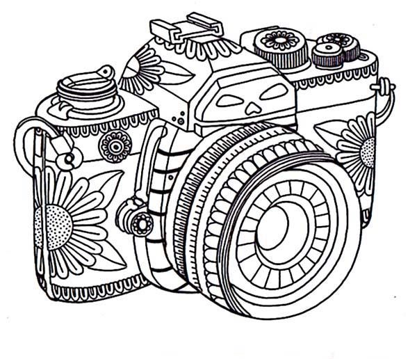 Photography Tribal Camera In Photography Coloring Page Free