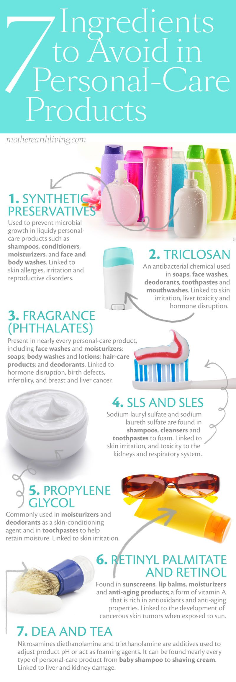 The Ban List 7 Ingredients To Avoid In Personal Care Products Green Living Natural Home Garden Natural Skin Care Health Organic Skin Care