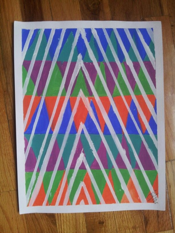 Pintura abstracta en acrílico