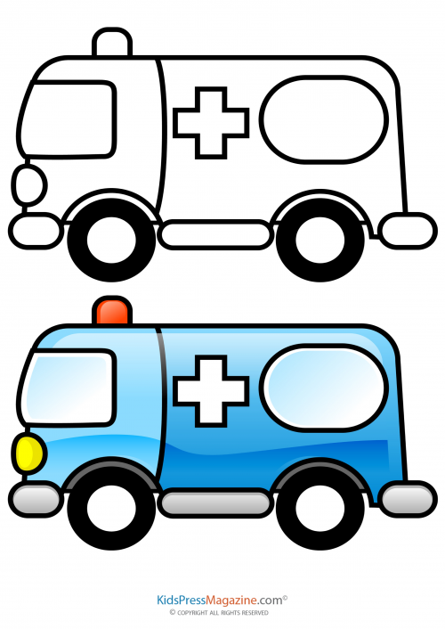 shapes and colors ambulance preschool ideas preschool snacks coloring pages healthy. Black Bedroom Furniture Sets. Home Design Ideas