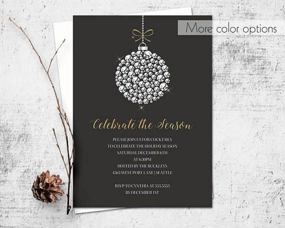 Holiday Party Invitation Template Corporate Business Employee - corporate party invitation template