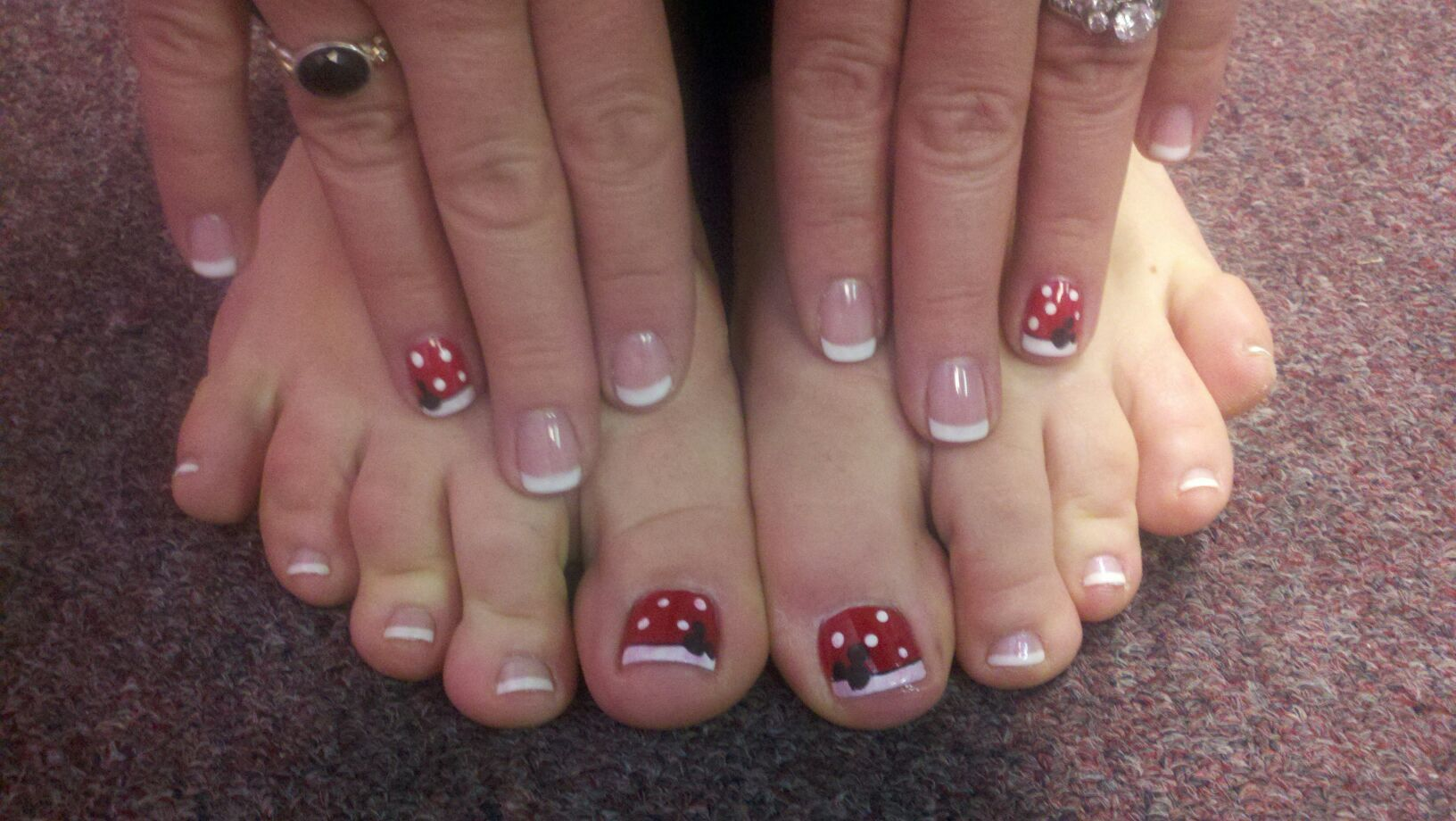 Disney Nail Art Shellac Manicure The Nail Station Glen Burnie Md Disney Nails Mickey Nails Disney Toe Nails