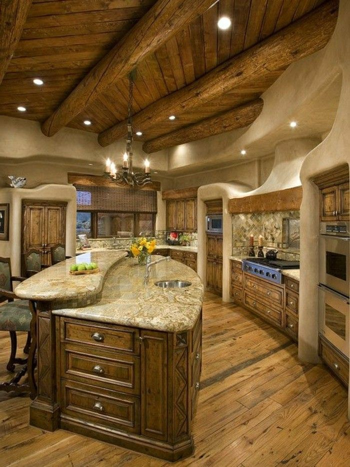 massive möbel aus holz marmor für küche | cuisine | pinterest | pelz