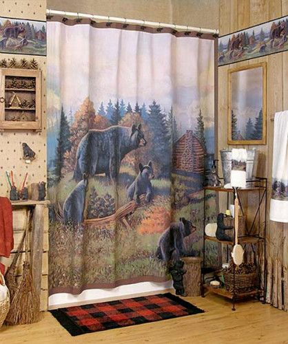 black bear bathroom accessories 2 418x500 like this now have to rh pinterest com Cheap Ways to Decorate Bathroom Cheap Bathroom Decor Sets
