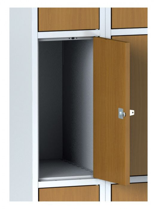 Wardrobe, 3 boxes 300 mm on the plinth, laminated birch doors …