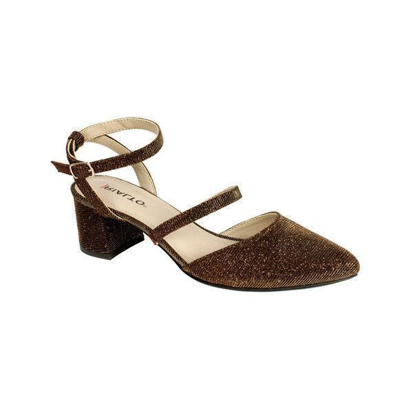 91778245fc3 Bronze · Short Heels · Women s Rialto Marigold Ankle Strap Sandal ( 30) ❤  liked on Polyvore featuring shoes