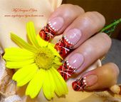 Photo of Abstract Orange nails by MyDesigns4you  Nail Art Gallery nailartgallery.na