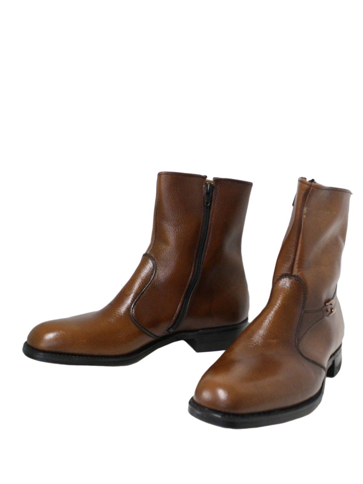Mens Brown Leather Ankle Boots - Cr Boot