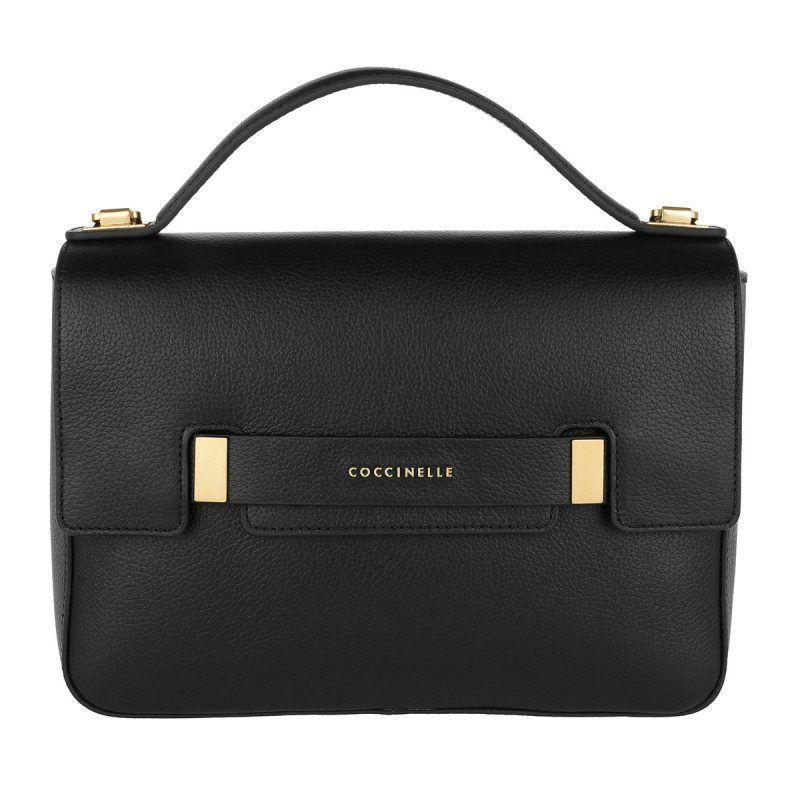 6a073dfec61fd Coccinelle Coccinelle Tasche – Auranne Satchel Bag Noir – in schwarz –  Henkeltasche für Damen