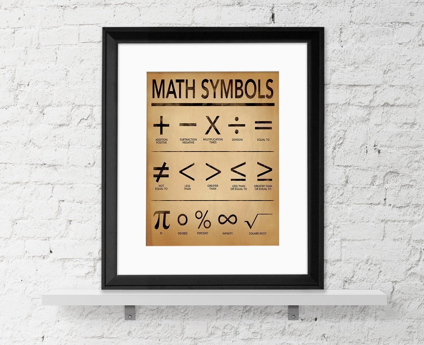 Math symbols fine art print for home office or classroom math symbols fine art print for home office or classroom mathematics typography poster buycottarizona Images