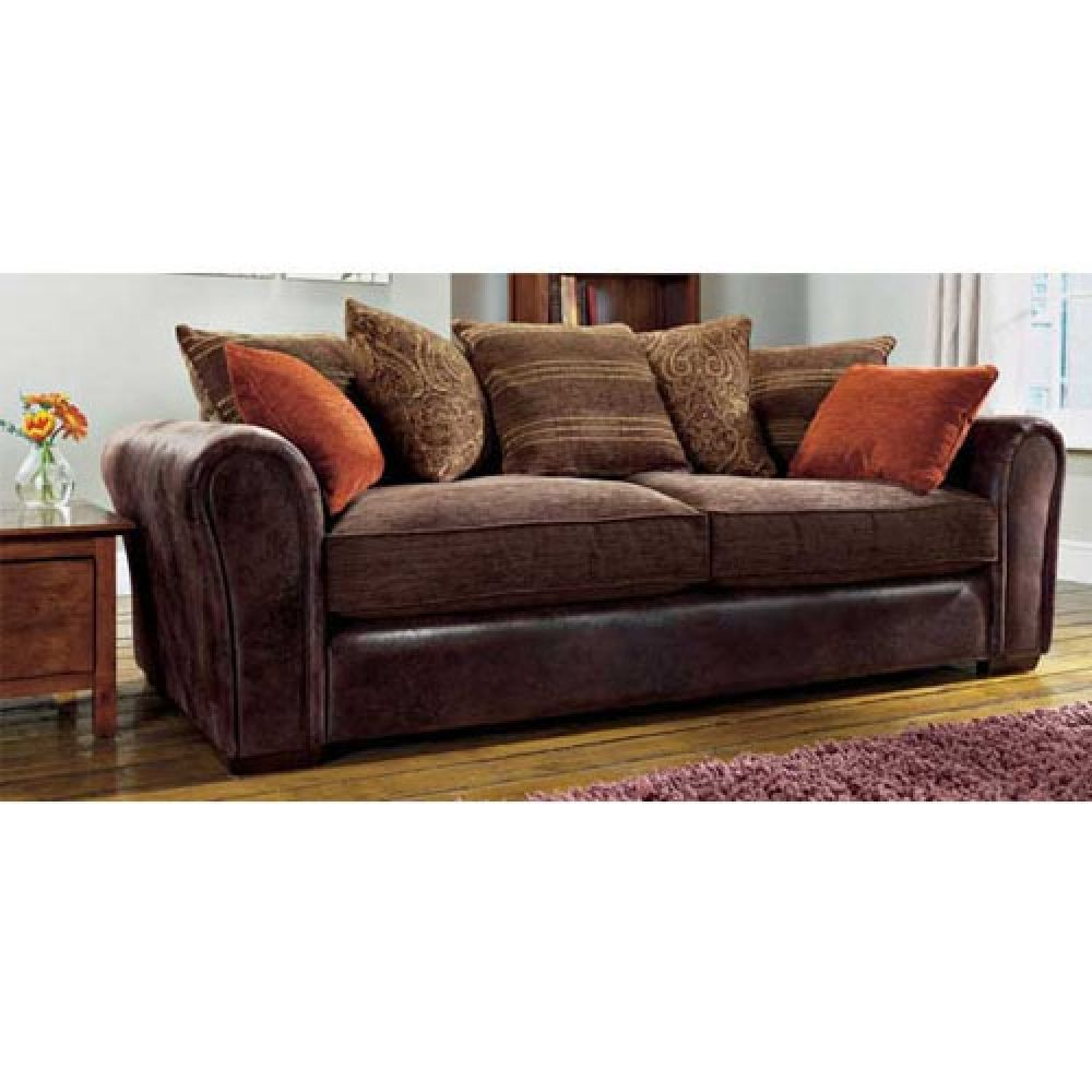 Leather And Fabric Sofa Covering My Cushions Because The Rest Of The Couch Is In Great Shape Sofa Deals Fabric Sofa Best Leather Sofa