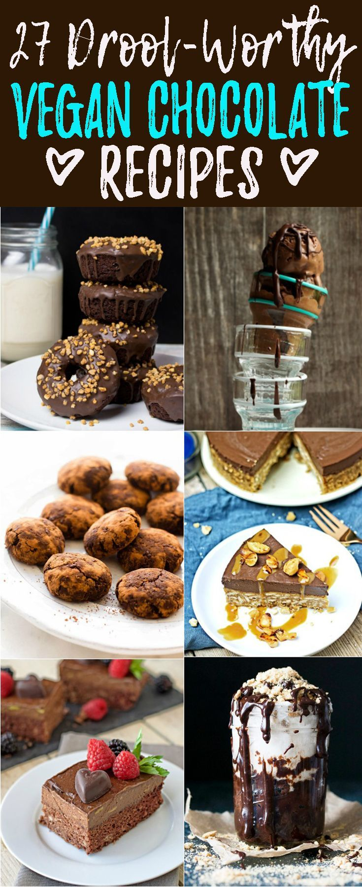 Don't miss out on these 27 vegan chocolate recipes that will definitely make you drool! Welcome to vegan chocolate heaven!