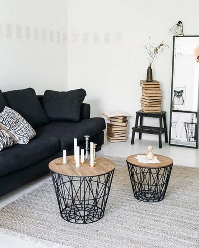 A Beautiful Living Room Inspiration Via @fantasticfrank . We Have Those  Ferm Living Wire Basket