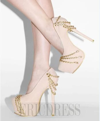 3c436fc5772572 Gorgeous Sweet Girl Platform High Heel Shoes with Metal Chain Decoration  Prom Shoes- ericdress.com 10862734
