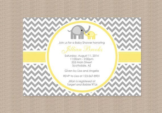 Yellow and grey elephant baby shower invitations google search yellow and grey elephant baby shower invitations google search filmwisefo Choice Image