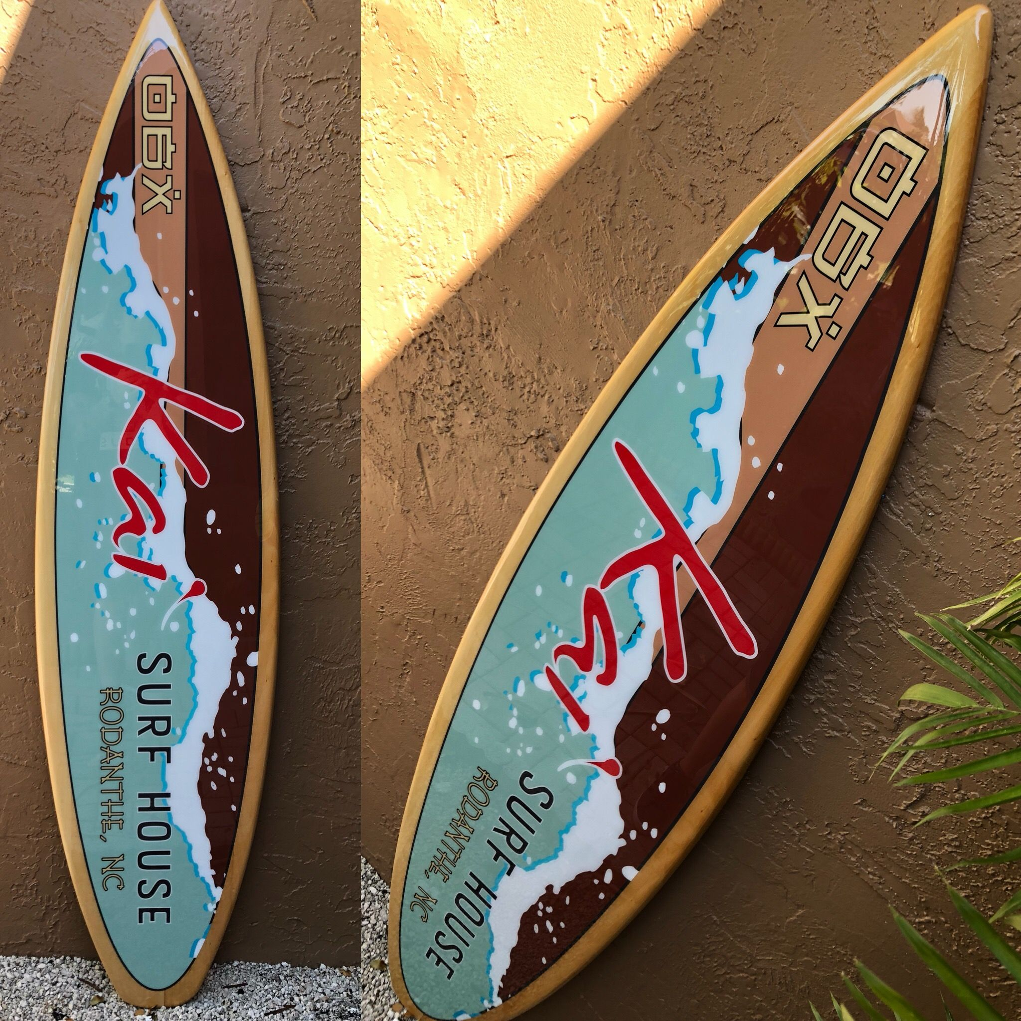Beach House Sign Surfboard Art Surfboard Beach House Signs