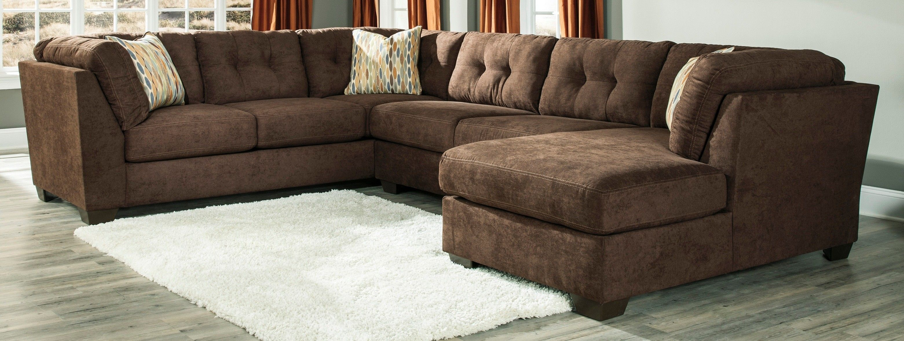Buy Ashley Furniture 1970238 1970234 1970217 Delta City Chocolate Intended For Ashley Furniture Sectional Ashley Furniture Sectional Furniture Ashley Furniture