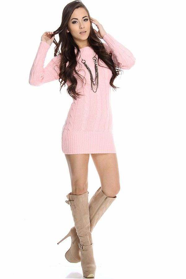 c07b7fe713 pink sweater long sweater top cable knit sweater dress sweater tunic sexy sweater  dress