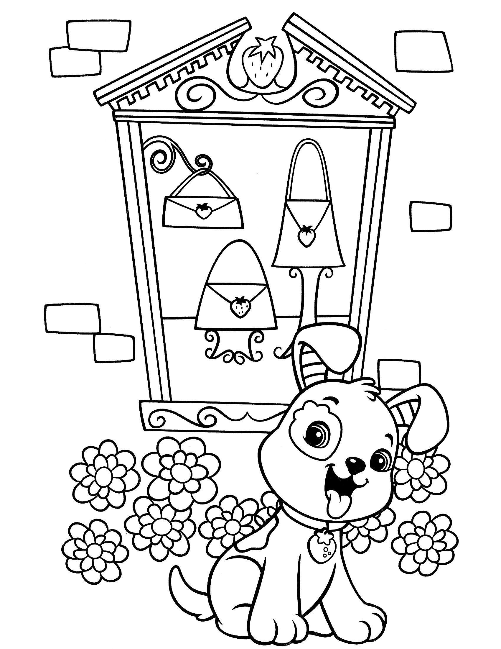 Strawberry Shortcake Coloring Page With Images