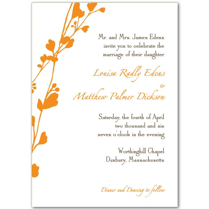 Blank Wedding Invitations What All Reject About Empty We Orange Wedding Invitations Wedding Reception Invitations Free Engagement Party Invitations Templates
