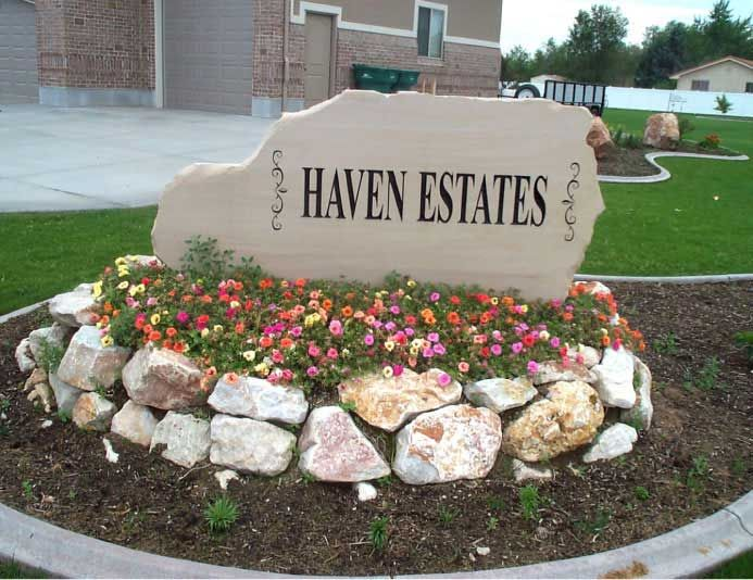 Entrance Sign Carved In Stone Natural Rock Designs Entrance Signage Entry Signs Farm Signs Entrance
