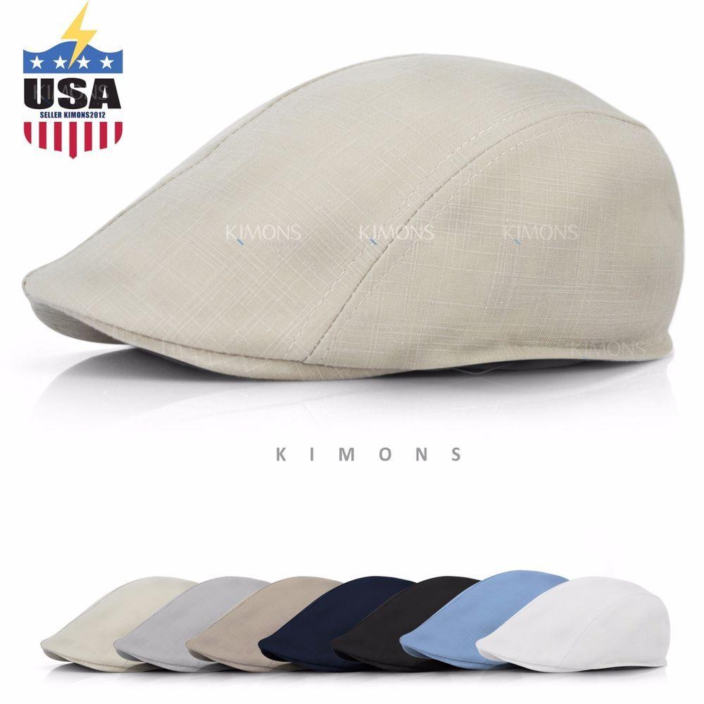 Men/'s Cotton Soft /& Light Weight Newsboy Ivy Cabbie Driving Hat