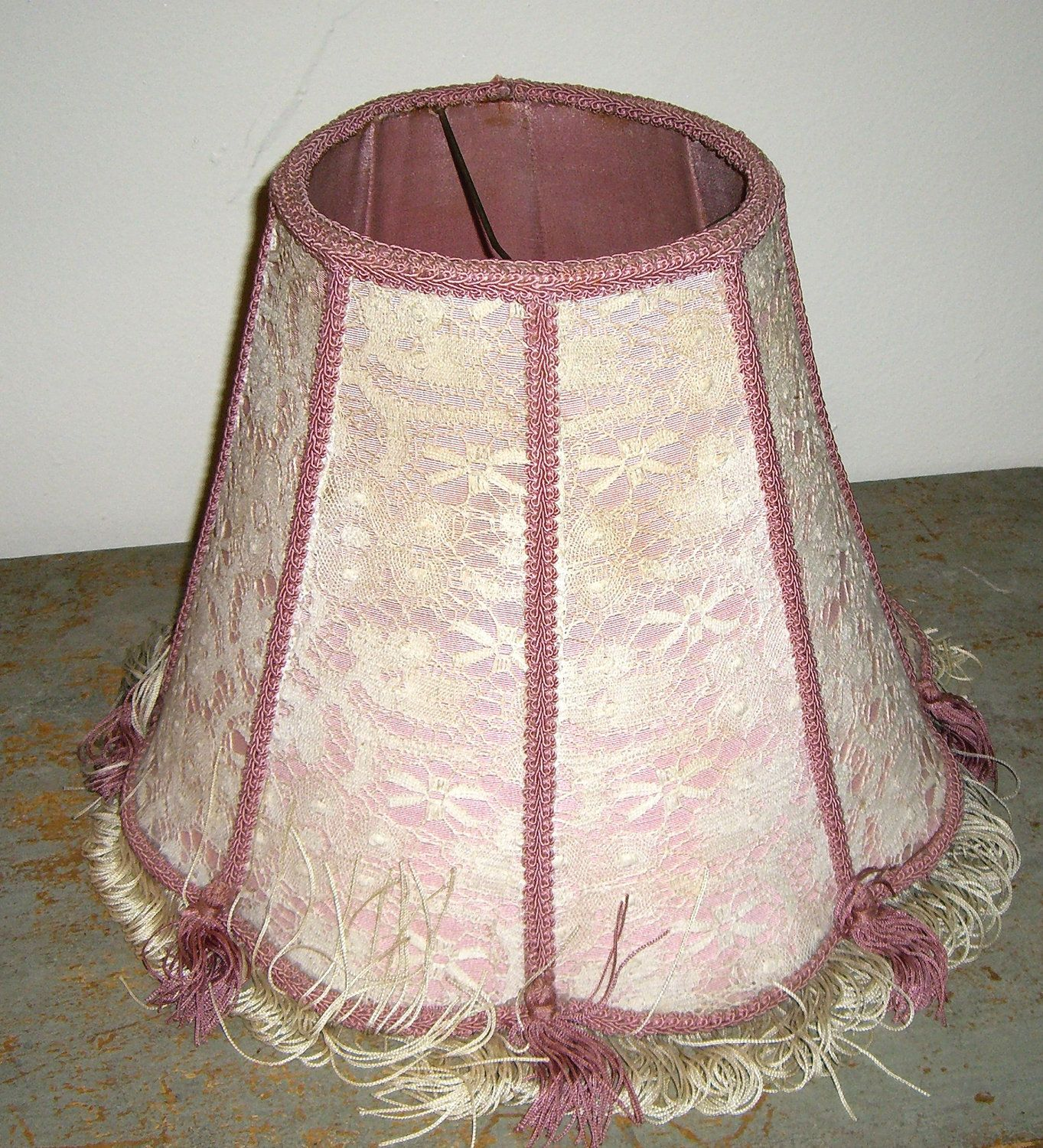 Vintage Lamp Shade Pink Lace 1940 S Shabby Pink Lamp Etsy Antique Lamp Shades Pink Lamp Shade Vintage Lamps
