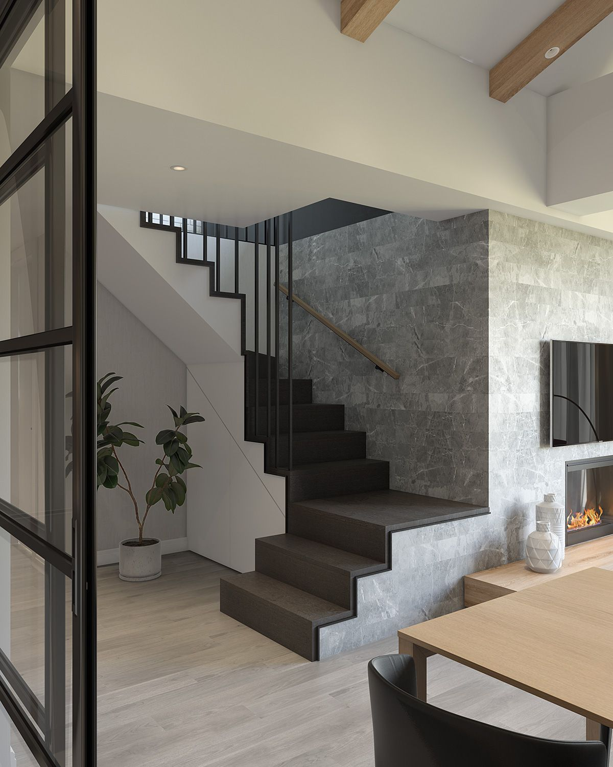 Modern Interior Staircase Materials Photo: Luxury Apartment On Behance