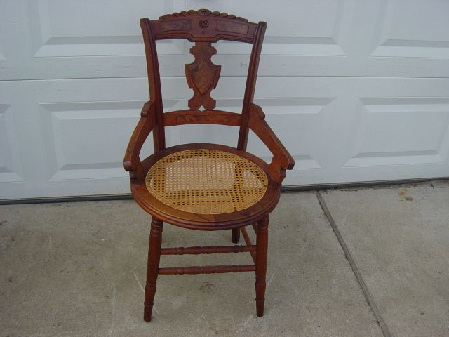 Antique Cane Bottom Chair