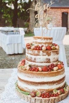 Naked Cake Rezept Hochzeitstorte Selber Backen Beeren Gesund