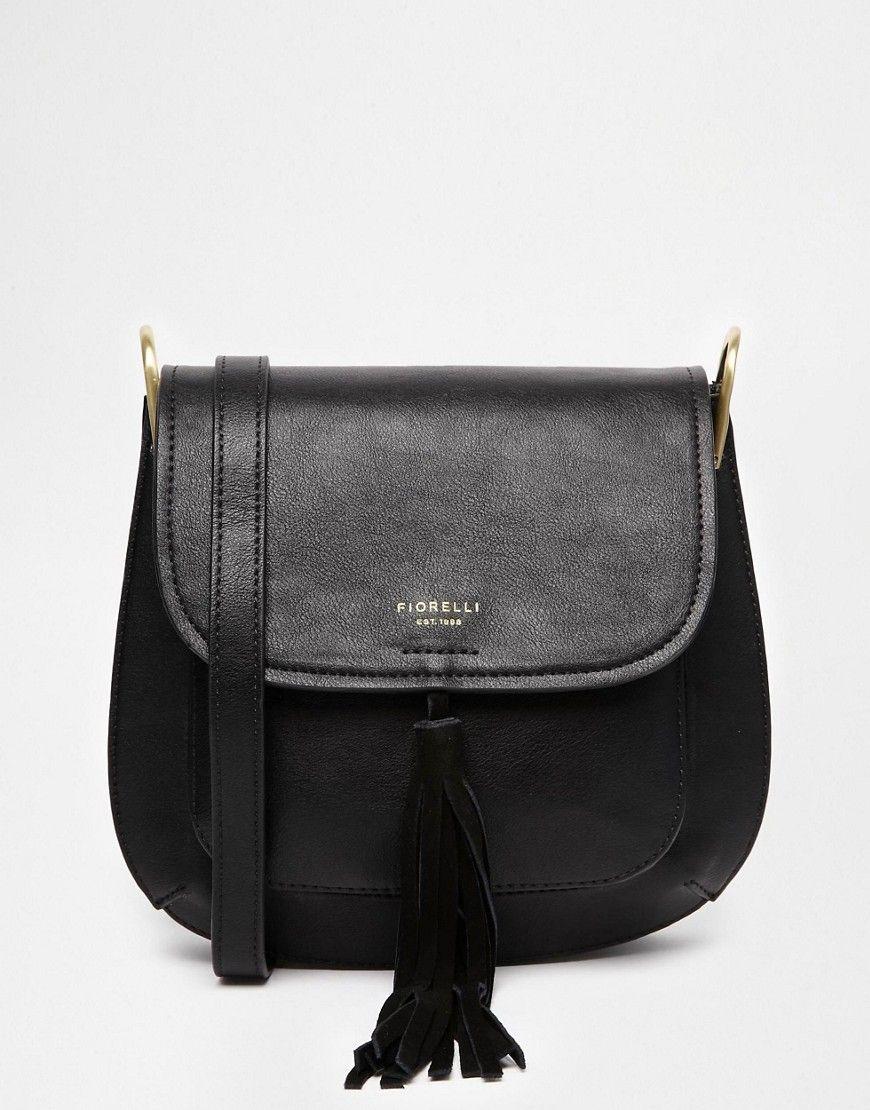 c87e783051 Image 1 of Fiorelli Nikita Saddle Bag With Tassel Detail Fiorelli Handbags